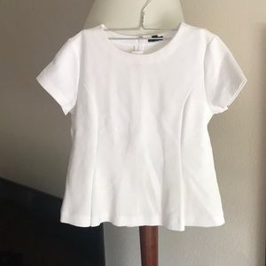 White Peplum Ann Taylor blouse. Size medium